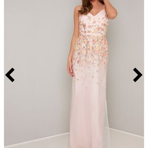 NWT. Prom or Bridesmaids Dress. Pink. Embroidered
